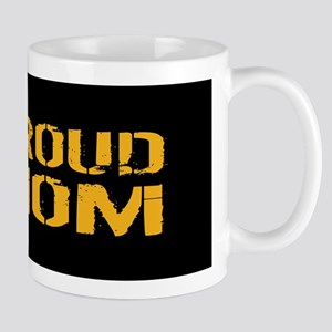 U.S. Navy: Proud Mom (Black) Mug