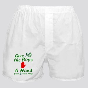 Green and White Army 16 Boxer Shorts