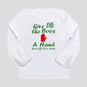 Green and White Army 16 Long Sleeve T-Shirt