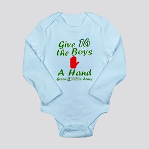 Green and White Army 16 Body Suit