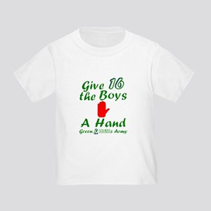Green and White Army 16 T-Shirt