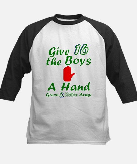 Green and White Army 16 Baseball Jersey