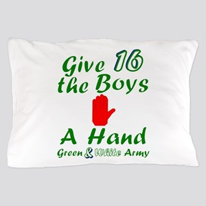 Green and White Army 16 Pillow Case