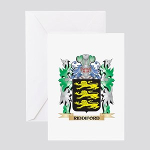 Riddiford Coat of Arms - Family Cre Greeting Cards