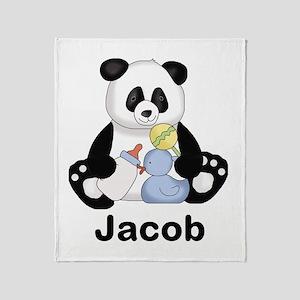 Jacob's Little Panda Throw Blanket