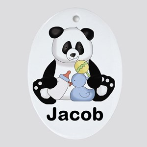 Jacob's Little Panda Oval Ornament