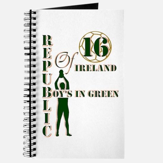 Republic of Ireland boy's in green 2016 Journal