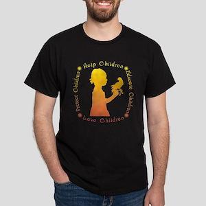 Protect Children Rights Dark T-Shirt