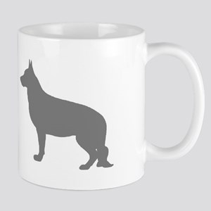 German Shepherd Two Gray 2 Mugs