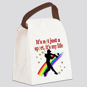 SOFTBALL STAR Canvas Lunch Bag