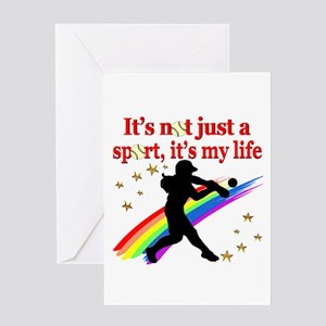 SOFTBALL STAR Greeting Card