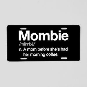 Mombie Aluminum License Plate