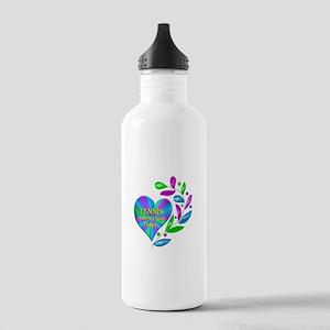 Tennis Happy Heart Stainless Water Bottle 1.0L