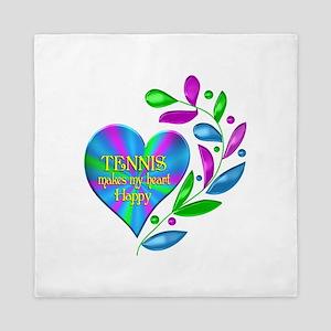 Tennis Happy Heart Queen Duvet