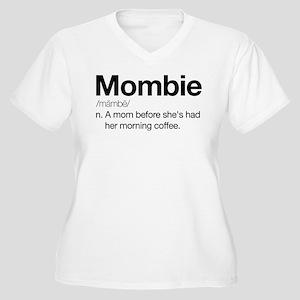 Mombie Women's Plus Size V-Neck T-Shirt