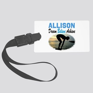 PERSONALIZE SWIMMER Large Luggage Tag