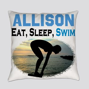 PERSONALIZE SWIMMER Everyday Pillow