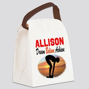 PERSONALIZE SWIMMER Canvas Lunch Bag