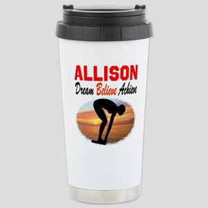 PERSONALIZE SWIMMER Stainless Steel Travel Mug