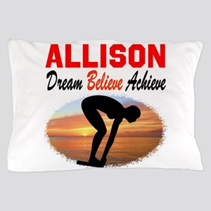 PERSONALIZE SWIMMER Pillow Case