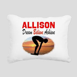 PERSONALIZE SWIMMER Rectangular Canvas Pillow