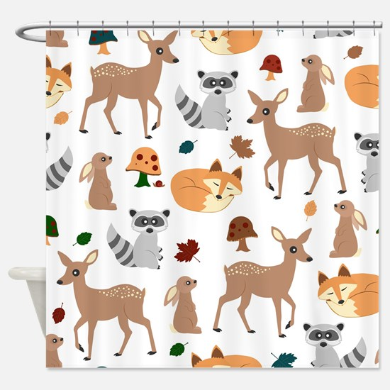 Woodland Creatures Shower Curtain