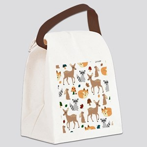 Woodland Creatures Canvas Lunch Bag