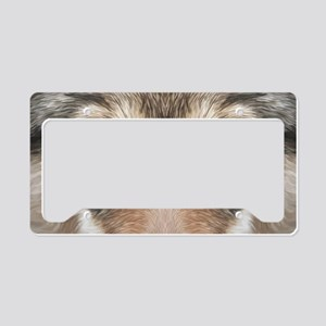 Realistic Wolf Painting License Plate Holder