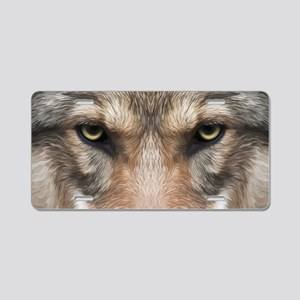 Realistic Wolf Painting Aluminum License Plate