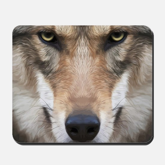 Realistic Wolf Painting Mousepad