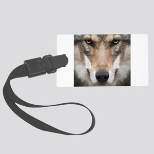 Realistic Wolf Painting Luggage Tag