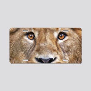 Realistic Lion Painting Aluminum License Plate