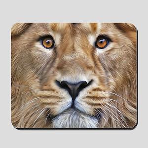 Realistic Lion Painting Mousepad