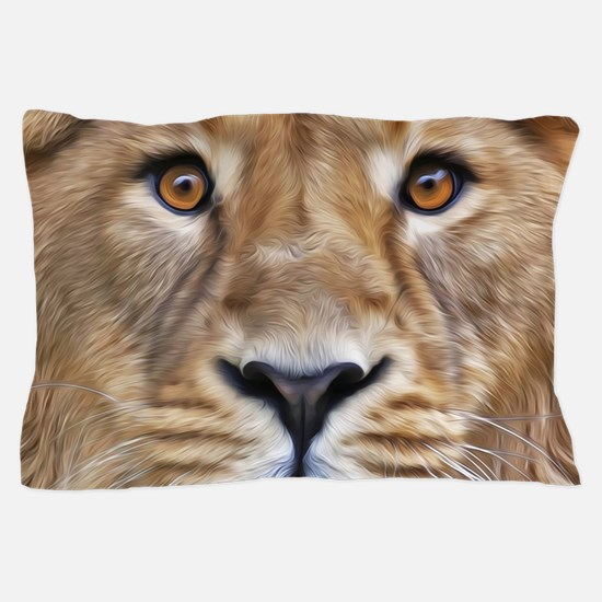 Realistic Lion Painting Pillow Case