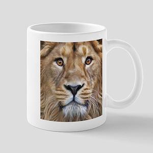 Realistic Lion Painting Mugs