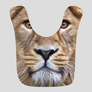 Realistic Lion Painting Bib