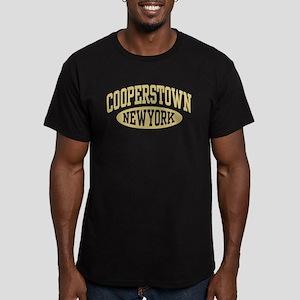 Cooperstown New York Men's Fitted T-Shirt (dark)
