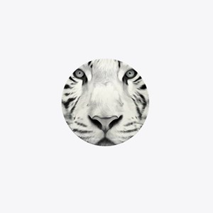 Realistic Tiger Painting Mini Button