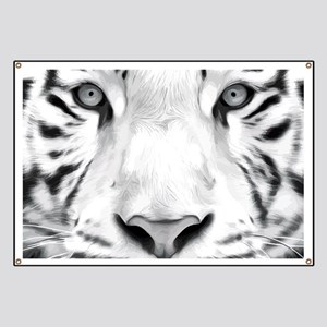Realistic Tiger Painting Banner