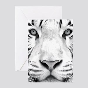 Realistic Tiger Painting Greeting Cards