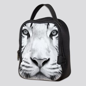 Realistic Tiger Painting Neoprene Lunch Bag