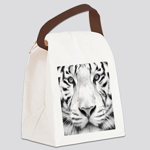 Realistic Tiger Painting Canvas Lunch Bag