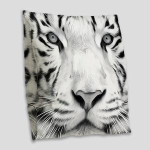 Realistic Tiger Painting Burlap Throw Pillow