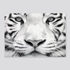 Realistic Tiger Painting 5'x7'Area Rug