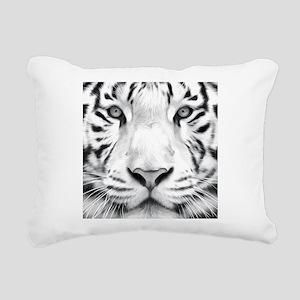 Realistic Tiger Painting Rectangular Canvas Pillow
