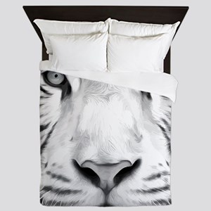 Realistic Tiger Painting Queen Duvet