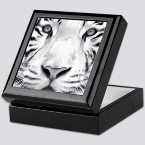 Realistic Tiger Painting Keepsake Box