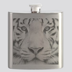 Realistic Tiger Painting Flask
