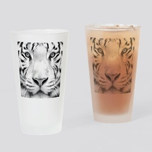 Realistic Tiger Painting Drinking Glass