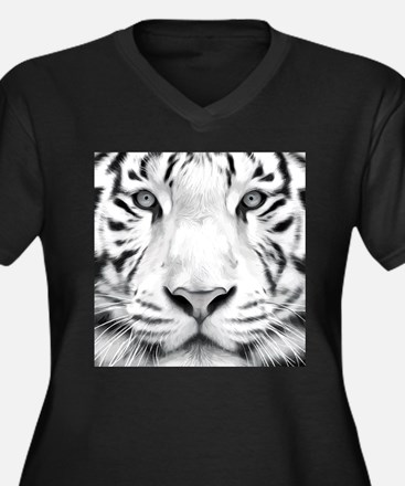 Realistic Tiger Painting Plus Size T-Shirt